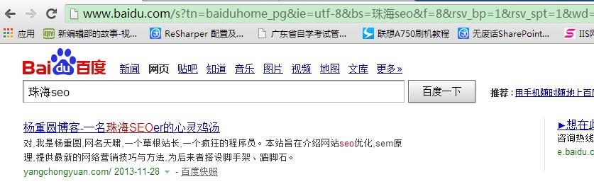 珠海seo网站登上首页