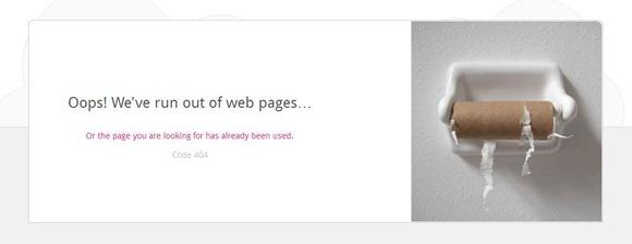 外国人的404页面设计